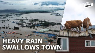 Entire town submerged over the weekend as heavy rain continues to batter Korea