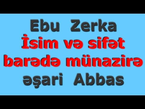 İsim Və Sifət Barədə MUNAZİRƏ