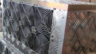 Майнинг litecoin, корпус 2 блока питания на 4 видеокарты, эффективное охлаждение