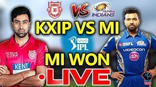 IPL 2018:KXIP vs MI Live Match Live Score,Live Streaming Online Score:MI WON