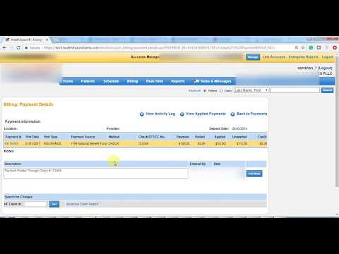 How To Post Insurance Payment in Meditouch (HealthFusion)