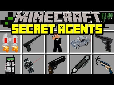 Minecraft SECRET AGENTS MOD! | BECOME AGENT TO STOP CRIME! | Modded Mini-Game