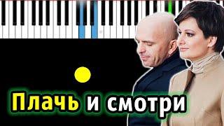 Непара - Плачь и смотри (Просто здравствуй, просто как дела)   на пианино   КАРАОКЕ   НОТЫ + MIDI видео