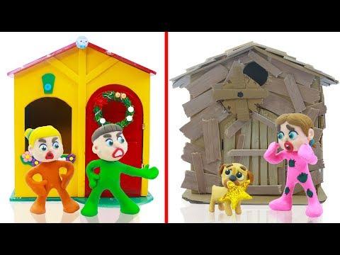 SUPERHERO BABY PLAYHOUSE DECORATION 💖 Play Doh Cartoons For Kids