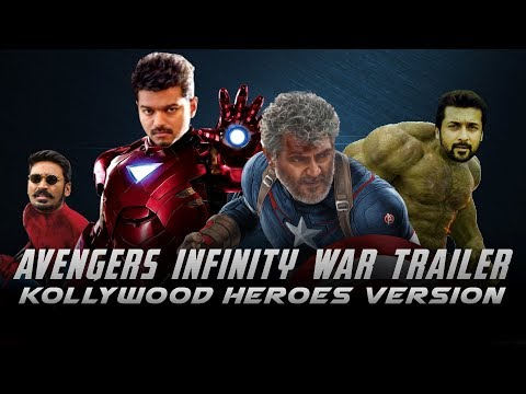 Avengers Infinity War Trailer (Animated) - Kollywood Heroes Version