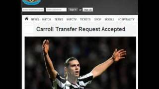 Andy Carroll leaves Newcastle United