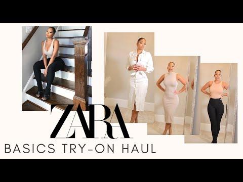 ZARA BASICS TRY ON HAUL SPRING 2020   Briana Monique'