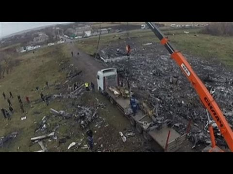 Raw Video: Aerial Views From MH17 Wreckage Site