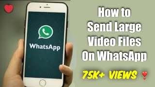 How To Send Large Size Videos On Whatsapp in Iphone URDU/HINDI - ENGLISH SUBTITLES