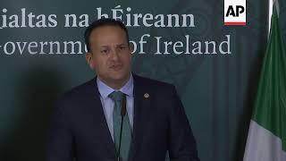 Irish PM holds news conference after EU summit
