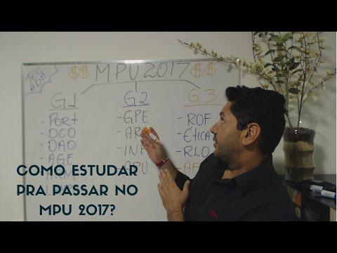 Como Estudar PRA PASSAR No Concurso Do MPU 2017