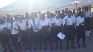 Hosianna youth choir at Ongwediva singing concert