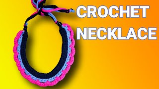 Crochet Two Braid Necklace | Beginner Crochet | Zimbabwean Youtuber