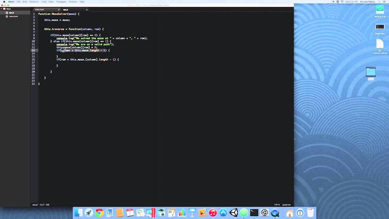 Solve A 2D Array Maze Using Recursion And JavaScript