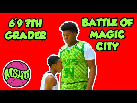 6'9 7th Grader DOMINATES - Jahzare Jackson North Coast Blue Chips - Battle of Magic City