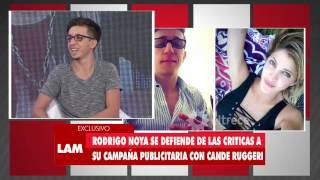 Rodrigo Noya habló de  su relación con Candela Ruggeri