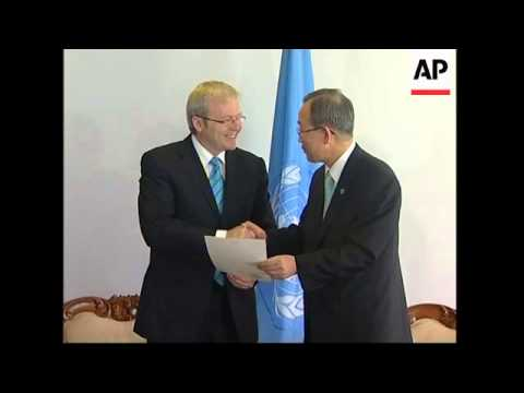 Australian PM Rudd ratifies Kyoto  Protocol