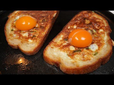 Neue Art Eier zum Frühstück zu machen. Leckere Ei-Sandwiches