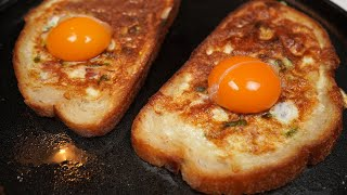 New way to make eggs for breakfast. Delicious egg sandwiches