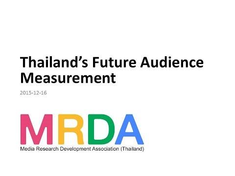 MRDA Thailand's Future Audience Measurement