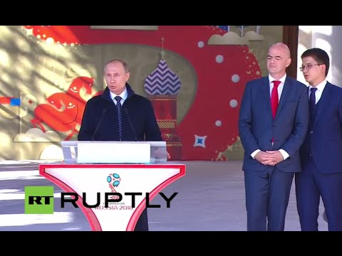 LIVE: Putin and FIFA chief open 2018 World Cup Volunteer Campaign  ENG
