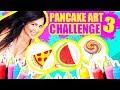 DIBUJOS QUE SE COMEN! Pizza, Sandía, Mascota y Más! - Pancake Art Challenge - Reto- SandraCiresArt