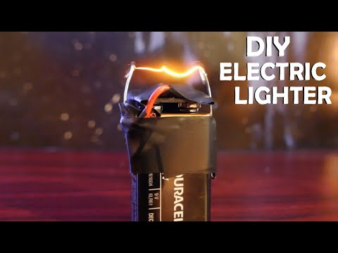 How To Make an Electric Lighter! - With a 9 volt, Super Easy!!!