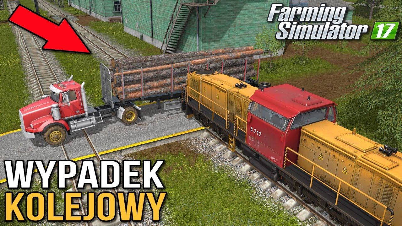Pociąg vs. ciężarówka [EKSPERYMENT] - Farming Simulator 17 | (50k subów special)