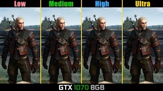The Witcher 3 GTX 1070 HairWorks On/Off | Frame-Rate Test