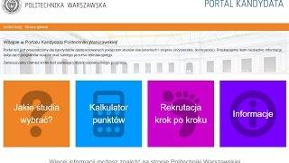 Portal Kandydata - narzędzie rekrutacyjne Politechniki Warszawskiej