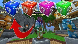 LUCKY BLOCKS I SKYWARS!?