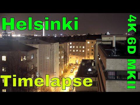 Helsinki Skyline Timelapse 6D MkII 4K
