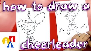 How To Draw A Cheerleader
