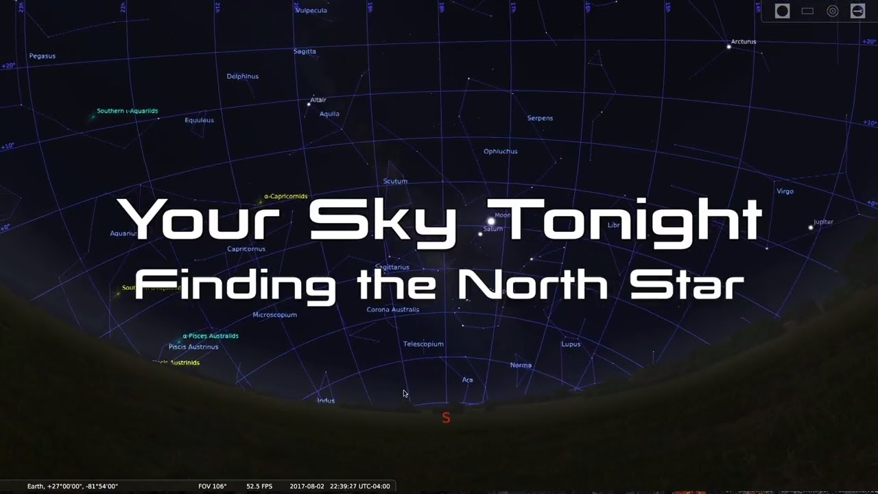 Interactive Star Map Northern Hemisphere.Your Sky Tonight Easy Way To Find The North Star Polaris Youtube