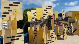 Instalación de la exposición en la Ciudad Deportiva Gran Canaria