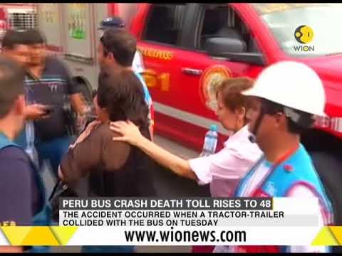 Peru bus crash death toll rises to 48