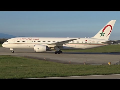 [FullHD] Royal Air Maroc Boeing 787-8 Dreamliner takeoff at Geneva/GVA/LSGG