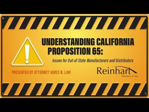 Understanding California Proposition 65: Issues for Out-of-State Manufacturers and Distributors