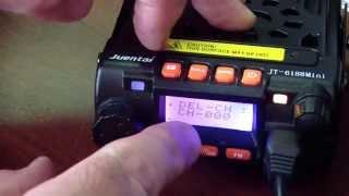 Juentai JT-6188 programming and menu settings