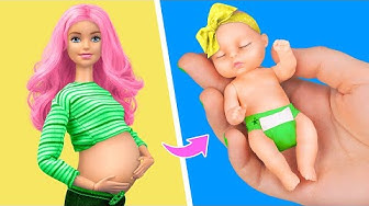 12 DIY Baby Doll Hacks and Crafts / Miniature Baby, Cradle, Diapers and More!