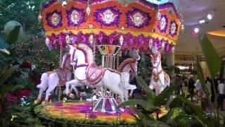 Spectacular Wynn Casino Carousel Made With Fresh Flowers