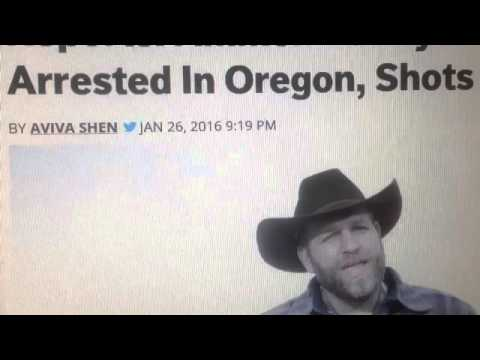 FBI Ambush Ammon Bundy & Militia on way to John Day Oregon (Arrested)