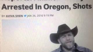 FBI Ambush Ammon Bundy & Militia on way to John Day Oregon (Arrested)