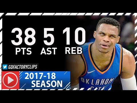 Russell Westbrook Full Highlights vs Timberwolves (2018.01.10) - 38 Pts, 10 Reb, 5 Ast