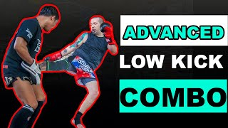 Advanced Muay Thai Low Kick Combination | Broken Rhythm Setup