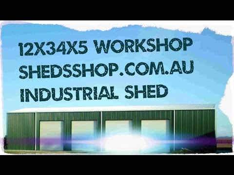 12 x 34 x 5 Industrial Shed Construction.