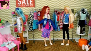 Barbie Dolls After school Routine, They go shopping at the Mall and...