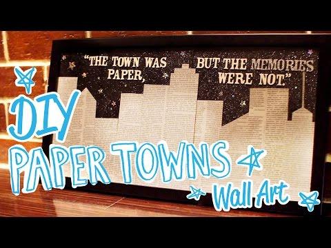 DIY Paper Towns Wall Art - HGTV Handmade