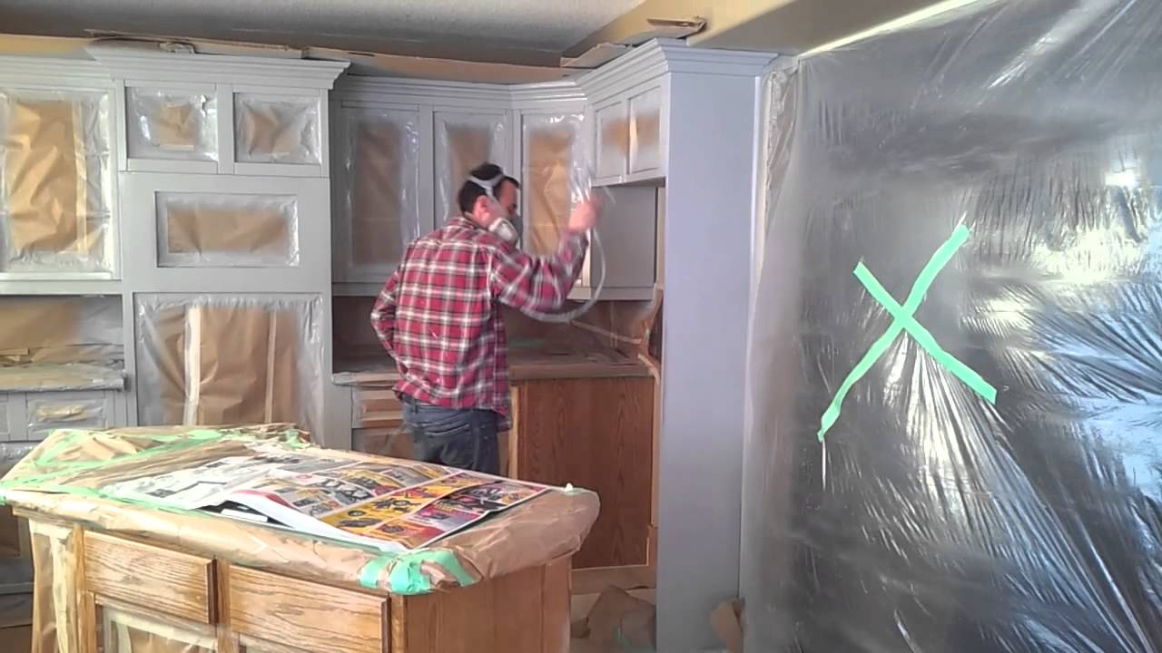 HOW TO PREP AND SPRAY KITCHEN CABINETS  YouTube