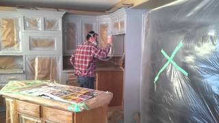 How To Prep And Spray Kitchen Cabinets